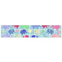 Cute Elephants  Flano Scarf (small) by Valentinaart
