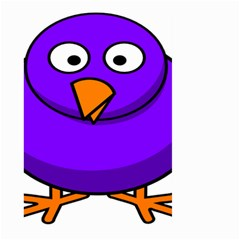 Cartoon Bird Purple Large Garden Flag (two Sides) by Alisyart
