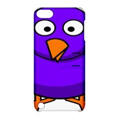 Cartoon Bird Purple Apple Ipod Touch 5 Hardshell Case With Stand by Alisyart
