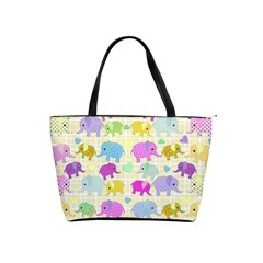 Cute Elephants  Shoulder Handbags by Valentinaart