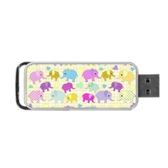 Cute Elephants  Portable Usb Flash (two Sides) by Valentinaart