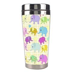 Cute Elephants  Stainless Steel Travel Tumblers by Valentinaart