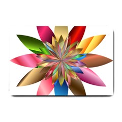 Chromatic Flower Gold Rainbow Small Doormat  by Alisyart