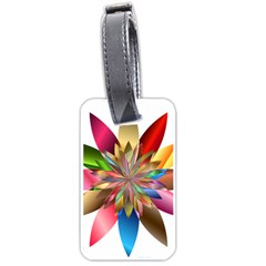 Chromatic Flower Gold Rainbow Luggage Tags (one Side)  by Alisyart