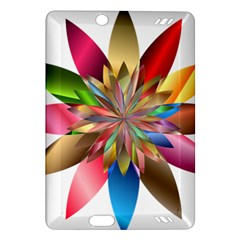 Chromatic Flower Gold Rainbow Amazon Kindle Fire Hd (2013) Hardshell Case by Alisyart