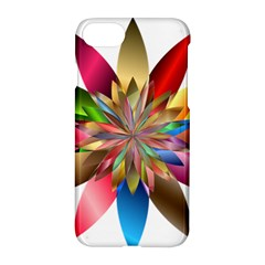 Chromatic Flower Gold Rainbow Apple Iphone 7 Hardshell Case by Alisyart
