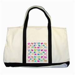 Cute elephants  Two Tone Tote Bag by Valentinaart