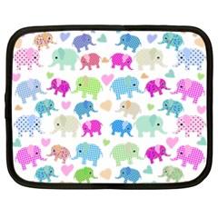 Cute Elephants  Netbook Case (xl)  by Valentinaart