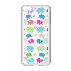 Cute Elephants  Apple Ipod Touch 5 Case (white) by Valentinaart