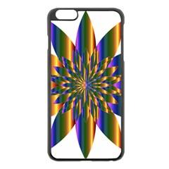 Chromatic Flower Gold Rainbow Star Light Apple Iphone 6 Plus/6s Plus Black Enamel Case by Alisyart