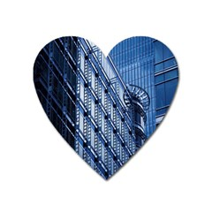 Building Architectural Background Heart Magnet by Simbadda