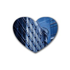 Building Architectural Background Heart Coaster (4 Pack)  by Simbadda