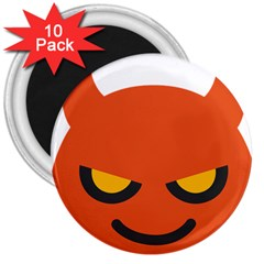 Devil 3  Magnets (10 Pack)  by Alisyart