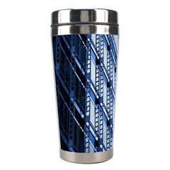 Building Architectural Background Stainless Steel Travel Tumblers by Simbadda