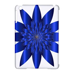 Chromatic Flower Blue Star Apple Ipad Mini Hardshell Case (compatible With Smart Cover) by Alisyart
