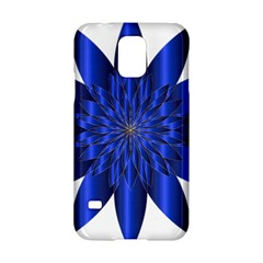 Chromatic Flower Blue Star Samsung Galaxy S5 Hardshell Case  by Alisyart
