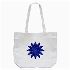 Chromatic Flower Blue Star Tote Bag (white) by Alisyart