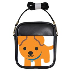 Dog Girls Sling Bags by Alisyart