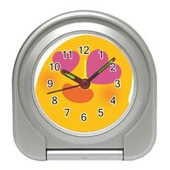 Emoji Face Emotion Love Heart Pink Orange Emoji Travel Alarm Clocks by Alisyart