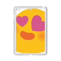 Emoji Face Emotion Love Heart Pink Orange Emoji Ipad Mini 2 Enamel Coated Cases by Alisyart
