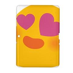 Emoji Face Emotion Love Heart Pink Orange Emoji Samsung Galaxy Tab 2 (10 1 ) P5100 Hardshell Case  by Alisyart