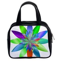 Chromatic Flower Variation Star Rainbow Classic Handbags (2 Sides) by Alisyart
