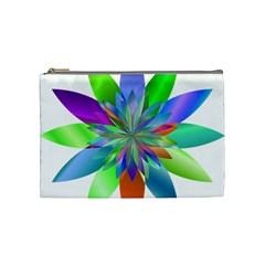 Chromatic Flower Variation Star Rainbow Cosmetic Bag (medium)  by Alisyart