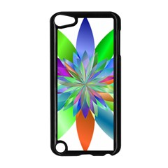 Chromatic Flower Variation Star Rainbow Apple Ipod Touch 5 Case (black) by Alisyart