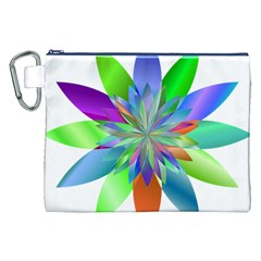 Chromatic Flower Variation Star Rainbow Canvas Cosmetic Bag (xxl) by Alisyart