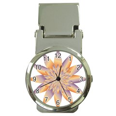 Chromatic Flower Gold Star Floral Money Clip Watches by Alisyart