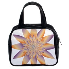 Chromatic Flower Gold Star Floral Classic Handbags (2 Sides) by Alisyart