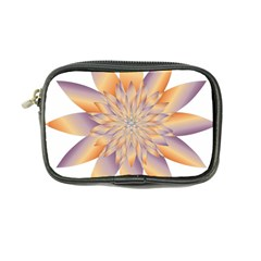 Chromatic Flower Gold Star Floral Coin Purse by Alisyart