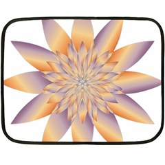 Chromatic Flower Gold Star Floral Double Sided Fleece Blanket (mini)  by Alisyart