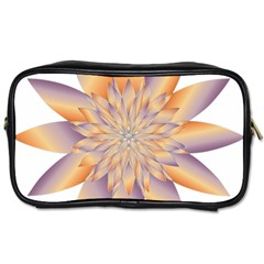 Chromatic Flower Gold Star Floral Toiletries Bags 2 Side by Alisyart