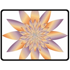 Chromatic Flower Gold Star Floral Fleece Blanket (large)  by Alisyart