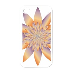 Chromatic Flower Gold Star Floral Apple Iphone 4 Case (white) by Alisyart