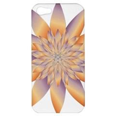 Chromatic Flower Gold Star Floral Apple Iphone 5 Hardshell Case by Alisyart