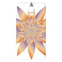 Chromatic Flower Gold Star Floral Galaxy Note 4 Back Case