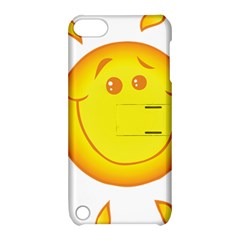 Domain Cartoon Smiling Sun Sunlight Orange Emoji Apple Ipod Touch 5 Hardshell Case With Stand by Alisyart