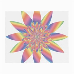 Chromatic Flower Gold Rainbow Star Small Glasses Cloth (2 Side) by Alisyart