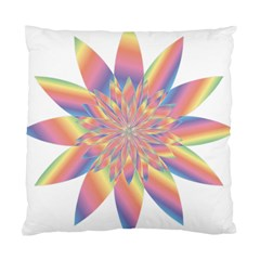 Chromatic Flower Gold Rainbow Star Standard Cushion Case (one Side) by Alisyart