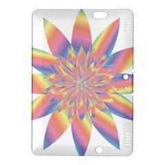 Chromatic Flower Gold Rainbow Star Kindle Fire Hdx 8 9  Hardshell Case by Alisyart