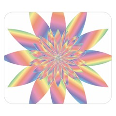 Chromatic Flower Gold Rainbow Star Double Sided Flano Blanket (small)  by Alisyart