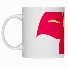 Flower Floral Lily Blossom Red Yellow White Mugs by Alisyart