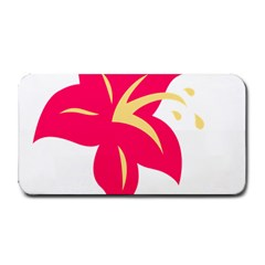 Flower Floral Lily Blossom Red Yellow Medium Bar Mats by Alisyart