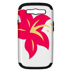 Flower Floral Lily Blossom Red Yellow Samsung Galaxy S Iii Hardshell Case (pc+silicone) by Alisyart
