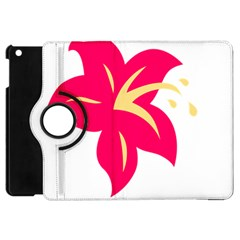 Flower Floral Lily Blossom Red Yellow Apple Ipad Mini Flip 360 Case by Alisyart