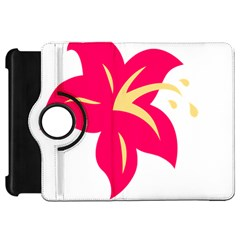 Flower Floral Lily Blossom Red Yellow Kindle Fire Hd 7  by Alisyart