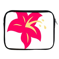 Flower Floral Lily Blossom Red Yellow Apple Ipad 2/3/4 Zipper Cases by Alisyart