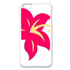 Flower Floral Lily Blossom Red Yellow Apple Iphone 6 Plus/6s Plus Enamel White Case by Alisyart